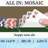 All in Mosaic Наклейка для ГлавПивМаг